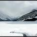frozen mountain lake by R. Borges