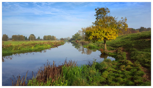 river nene rivernene wadenhoe achurch autumn autumnal