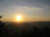 soleil levant du chateau de Montsegur en Ariège