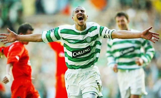 Henrik Larsson, dernier but à Celtic Park