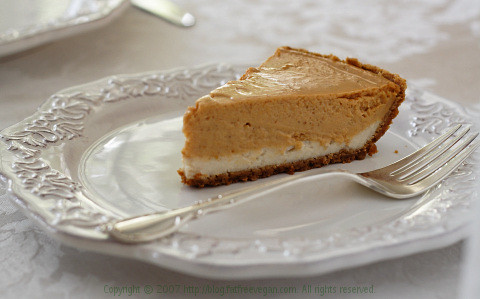 Double-Layer Pumpkin Cheesecake (Vegan) | Flickr - Photo Sharing!