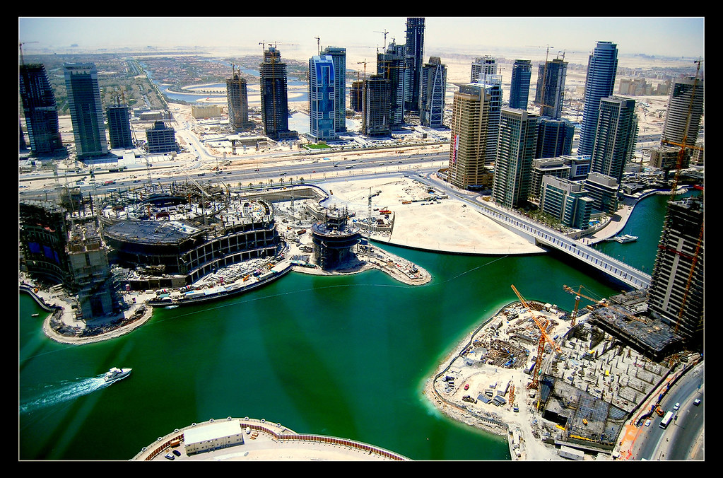 Dubai Marina construction work
