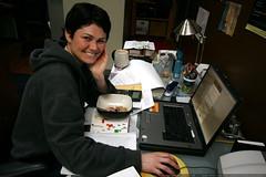 rachel at her laptop    MG 1642