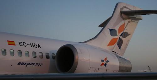 EC-HOA. AeBal Spanair Boeing 717