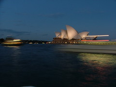 Dusk on Sydney Harbour