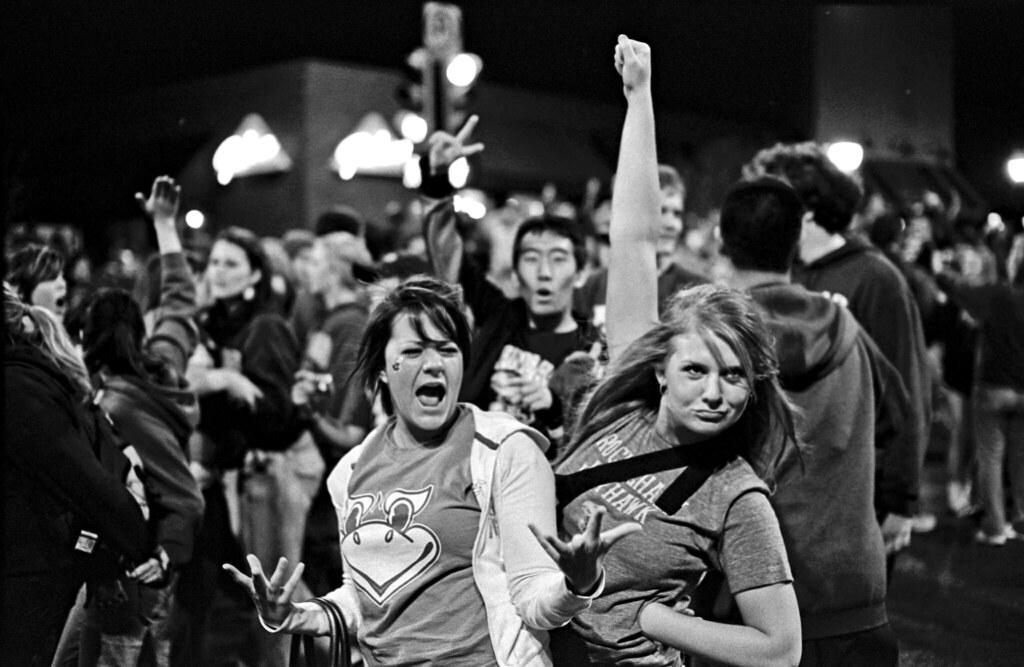 Kansas Jayhawks 2008 NCAA Basketball National Champions--Street Party