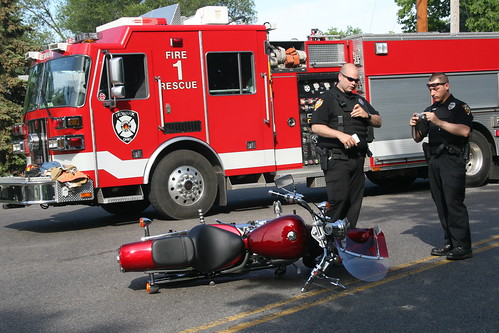 Motorcycle Crash by darrindecker