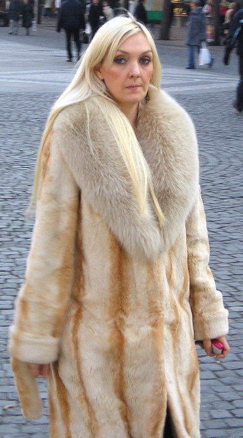 blonde fur coat porn