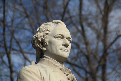 Alexander Hamilton Statue in Central Park (New York City) - February 18, 2017