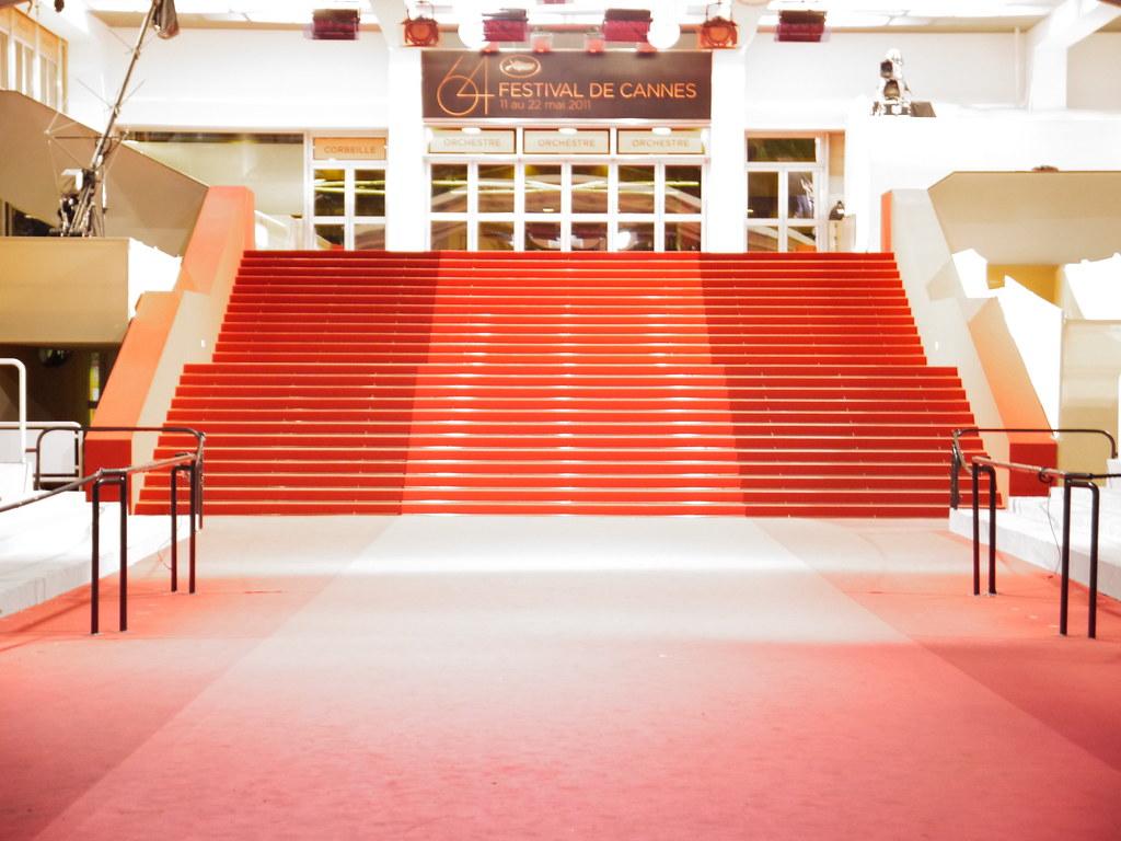 Les Marches Du Festival De Cannes By Night Le Tapis Rouge Flickr