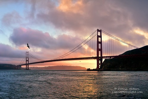 Golden Gate Bridge at Sunset - San Francisco California