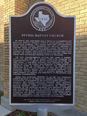 Photo of Bethel Baptist Church, Houston, TX black plaque