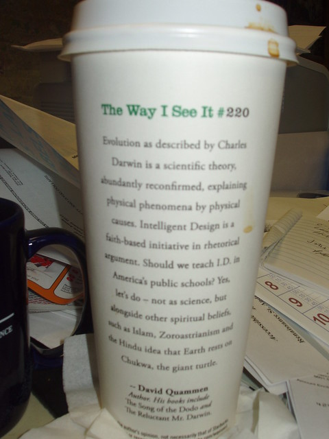 Starbucks Cup anti-creationist #2