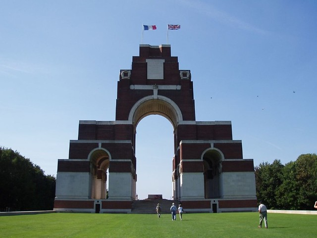 The Memorial to the Missing of the Somme, Thiepval. The memorial, the largest British monument of this type in the world, was designed by Sir Edwin Lutyens and commemorates the names of 73,000 British and allied soldiers who died on the Somme and have no known grave. Photo: Amanda Slater