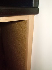 Wheat board cabinet and Paperstone countertop