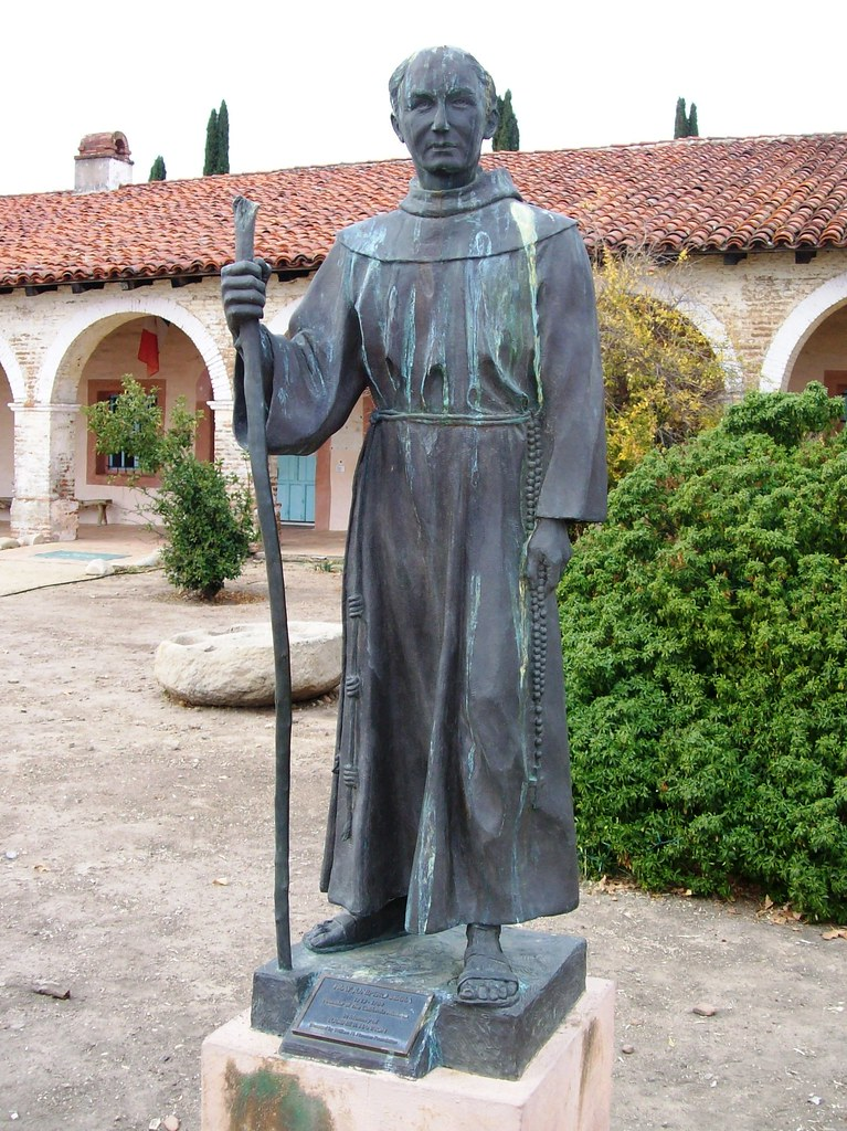 San Antonio Auto Group >> Statue of Father Junipero Serra outside Mission San Antonio de Padua (sanantonio005xy) - a photo ...