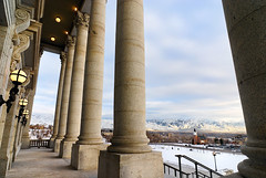 Capitol steps and the Wasatch Front
