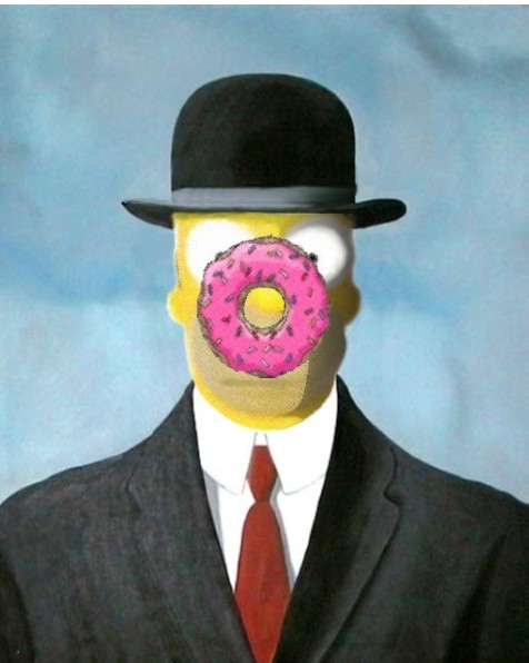 Homer Simpson Magritte