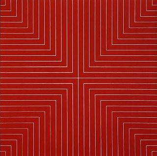 "COLOR CHART: Frank Stella, ""Delaware Crossing"" (red) 1961 by kelly a. murphy"