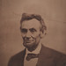 "Alexander Gardner's famous ""cracked glass plate"" photo of Abraham Lincoln"
