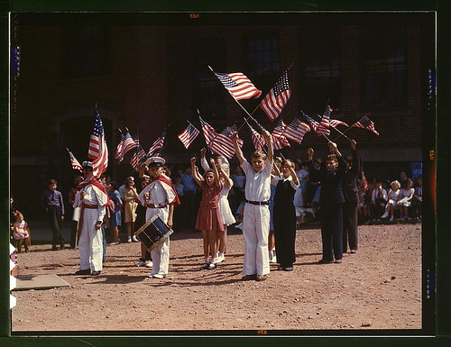 Children stage a patriotic demonstration, Southington, Conn.  (LOC)