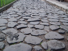 floor(0.0), asphalt(0.0), stone wall(0.0), rubble(0.0), road surface(0.0), gravel(0.0), sidewalk(1.0), soil(1.0), flagstone(1.0), cobblestone(1.0), walkway(1.0), flooring(1.0),