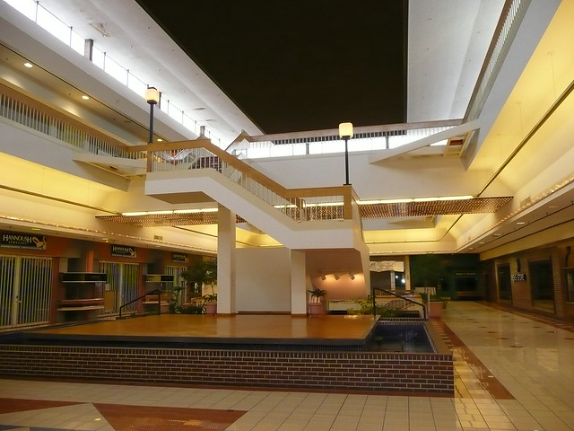 Overland Park, KS Metcalf South Shopping Center (a dead mall) stage and stairs