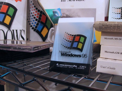 Windows 95 launch memorabilia