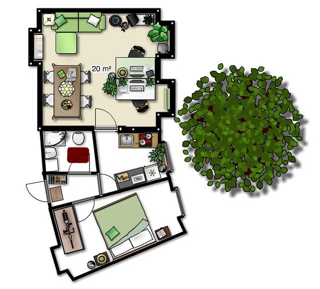 Flickr photo sharing Floorplanner
