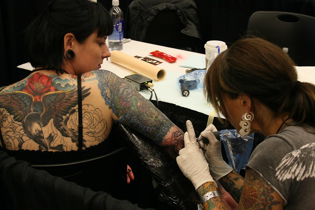 Girls with stretched ears 6 a gallery on flickr for Tattoo expo seattle