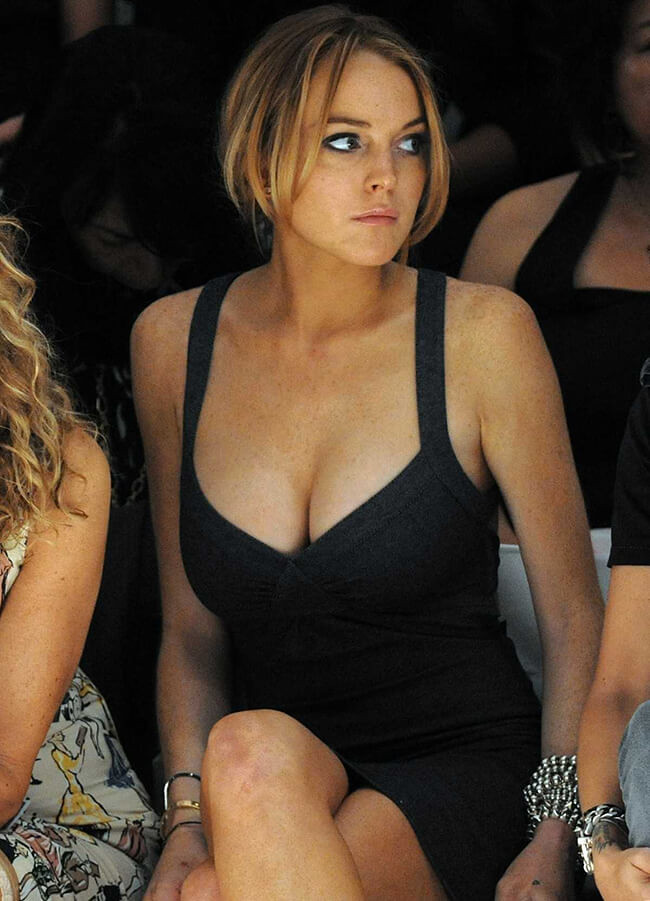Are lindsy lohan breasts