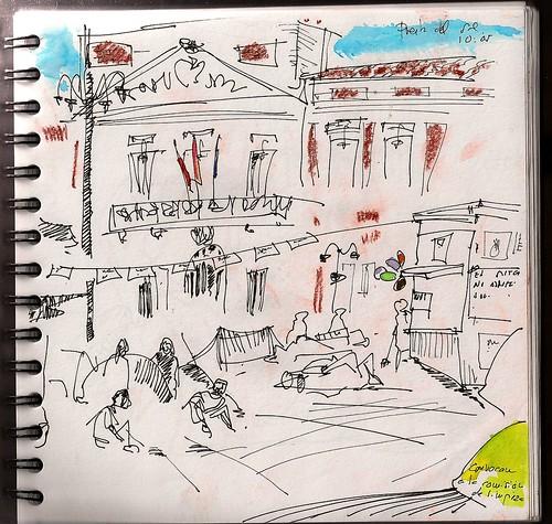 El despertar. Puerta del Sol, Madrid