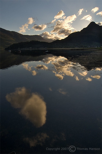 summer cloud reflection sunrise landscape scotland highlands calm glencoe serene ballachulish scottishhighlands lochleven