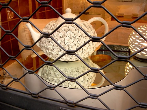 teapot in an Italian shop window