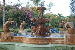 Fountain at Sandals Grande in St. Lucia