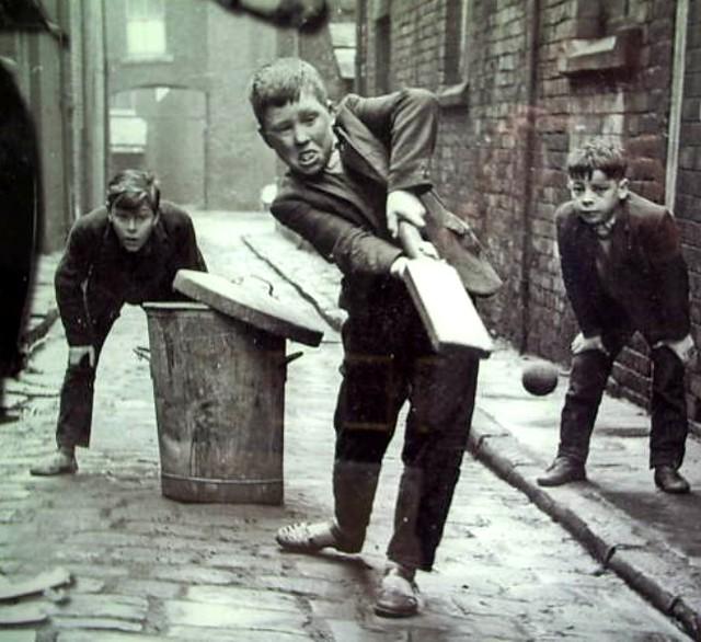 Oldham Street Cricket at Mumps Old Photograph