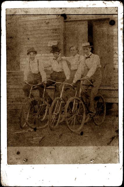Four bikes, four guys