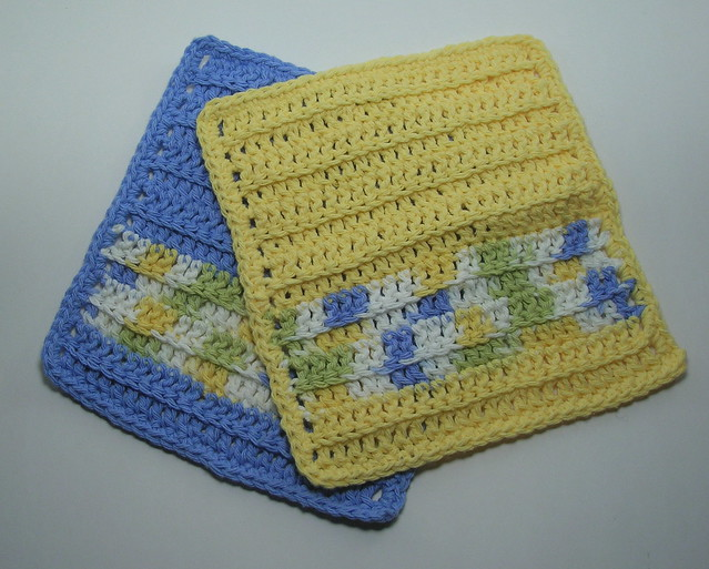 Cavern of Remembrance: Free Pattern: Crocheted Dishcloth