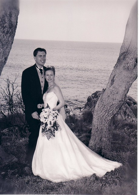wedding day 2002 by beach