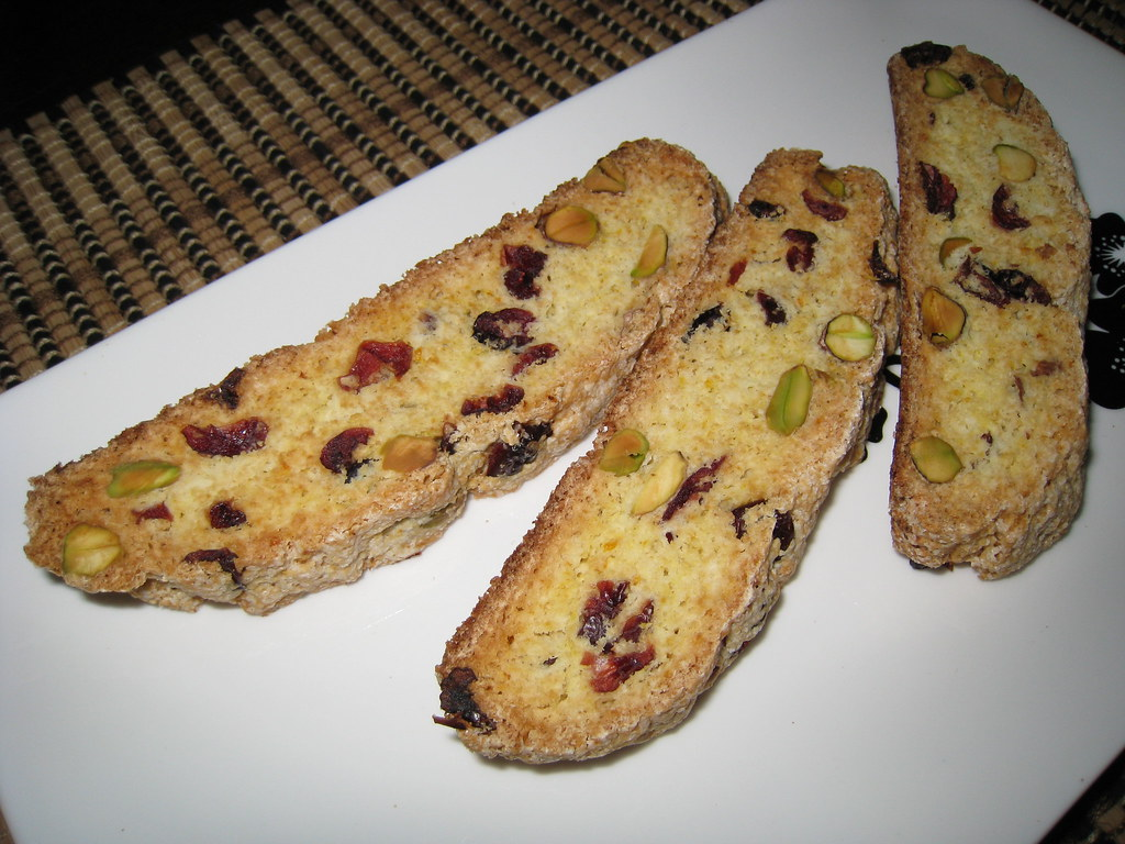 Cranberry, Orange and Pistachio Biscotti | Flickr - Photo Sharing!
