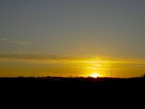 morning blue winter sky orange sun cold clouds sunrise landscape mo kansascity missouri kc samoff kcmo kansascitymo kansascitymissouri