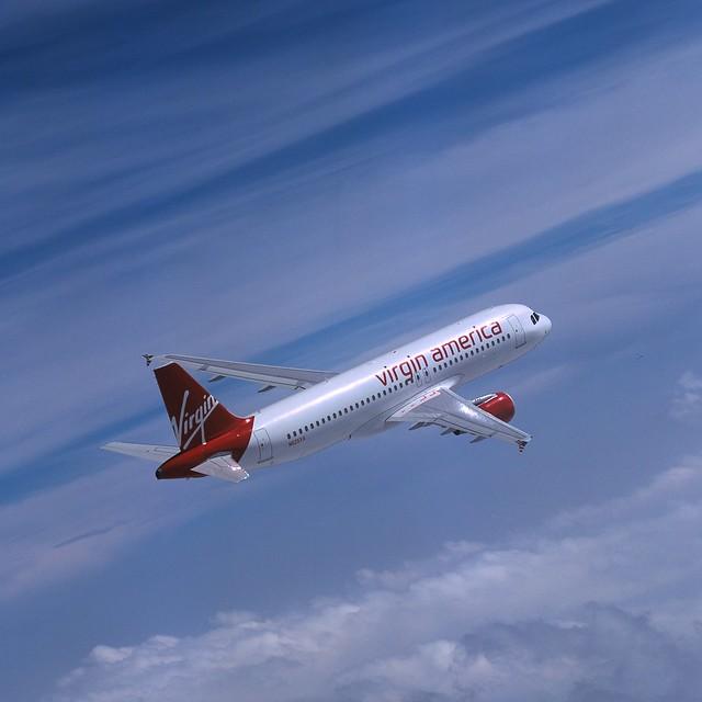 Virgin america plane flickr photo sharing Vibeline