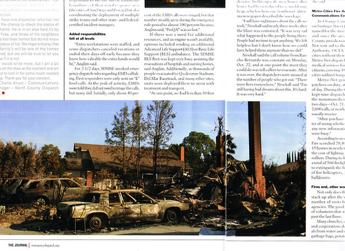 My photo of the aftermath of the San Diego Witch fire in 2007 got published!