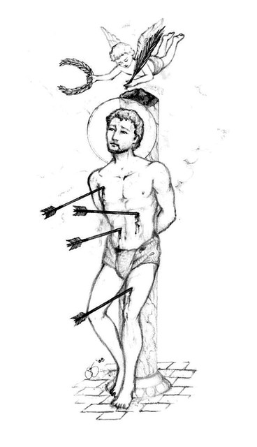 st sebastian coloring pages - photo#6