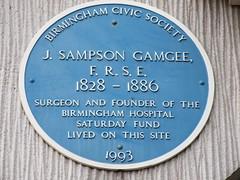 Photo of Joseph Sampson Gamgee blue plaque
