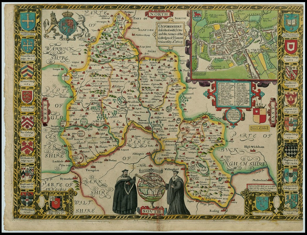 Oxfordshire England John Speed Proof Maps 1605 1610 Flickr