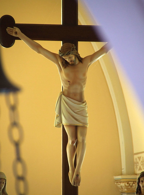Saint Martin Roman Catholic Church, in Starkenberg, Missouri - crucifix.jpg