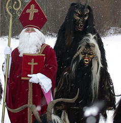 santa and krampus