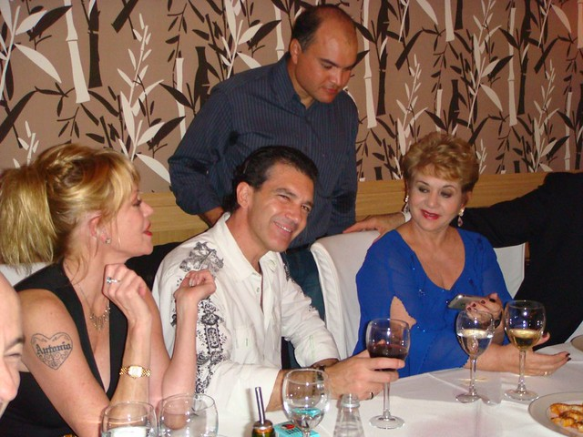 Jantar com Antonio Banderas e MelanieGriffith em Natal