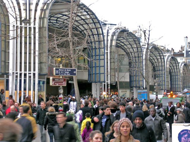 Forum Les Halles Paris France Les Halles At A Late